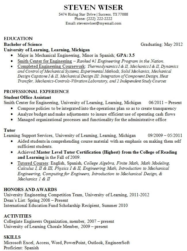 Easy Resume Example. Easy Resume Examples Easy Resume Example ...