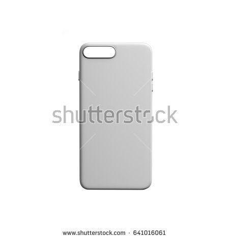 Phone Case 3d Render On Grey Stock Illustration 549183397 ...