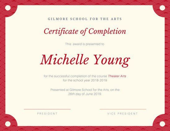 Completion Certificate Templates - Canva