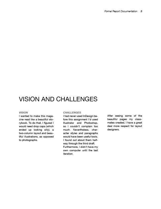 Formal Report Design — Kristina Wagner