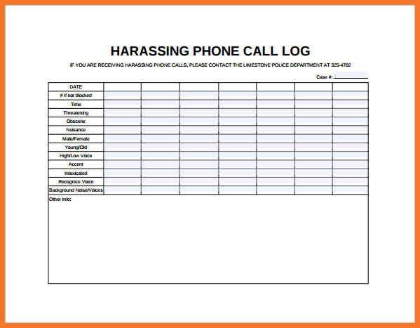 Phone Log Template. Employee Log Sheet 9+ Log Sheet Templates ...