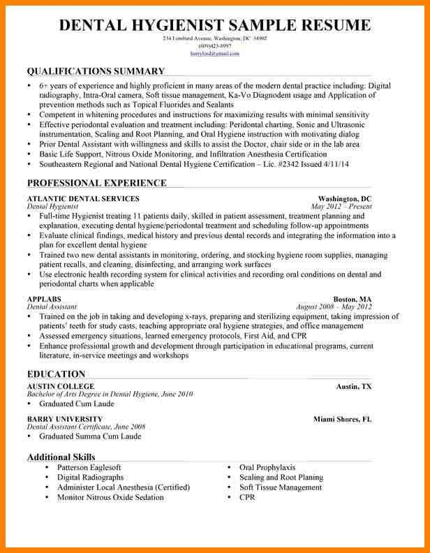 Dental Hygienist Resume. Rda Resume Examples 7+ Dental Assistant ...