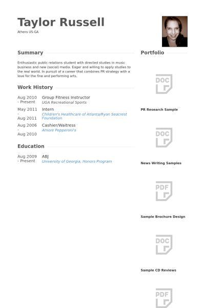 Fitness Instructor Resume samples - VisualCV resume samples database