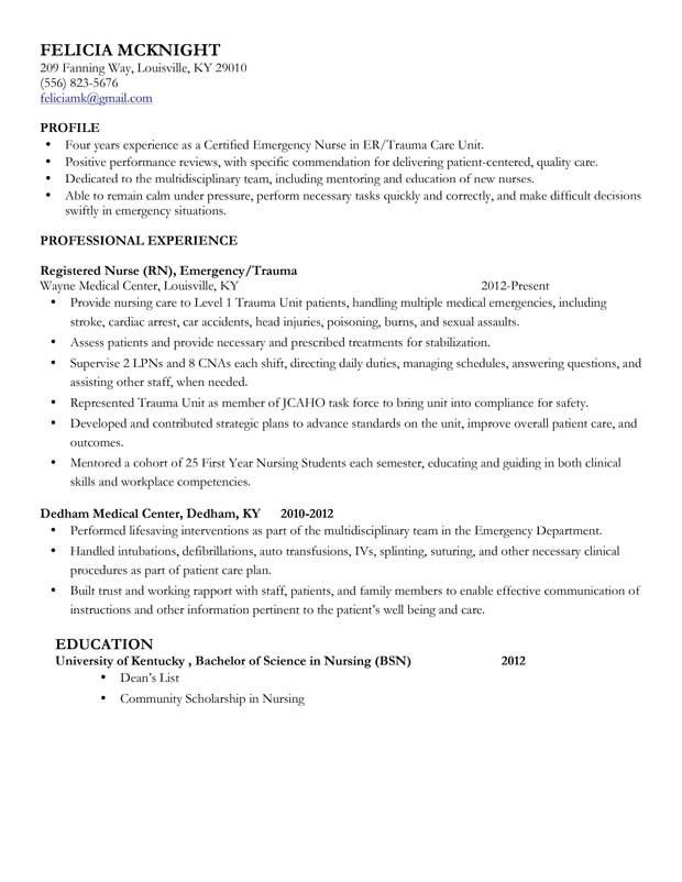 Nursing Resume Examples. Create My Resume Best Registered Nurse ...