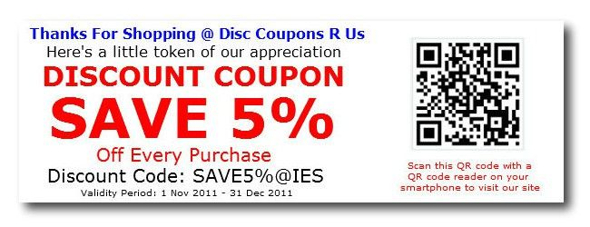 Discount Coupon Example - InstanteStore Ecommerce Blog