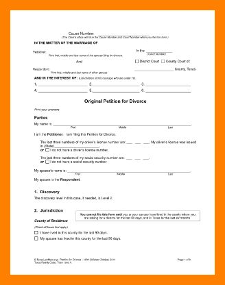8+ divorce paper pdf   protect letters