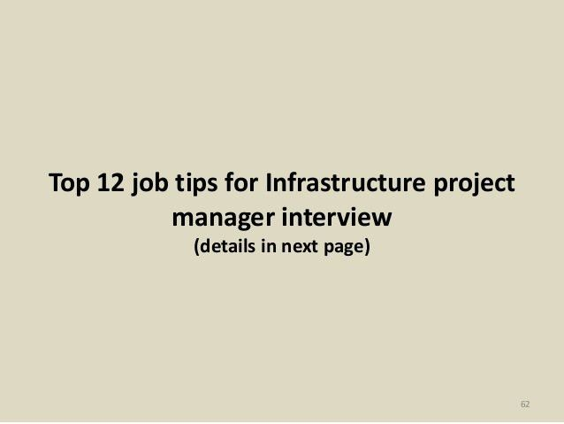 52 Infrastructure project manager interview questions and answers pdf