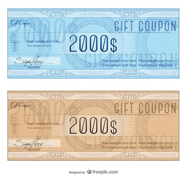 Gift coupon templates Vector | Free Download