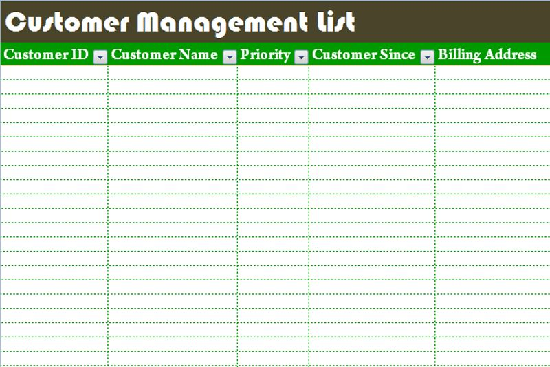 client list template