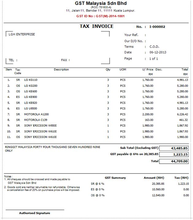 Download Invoice Template Excel Malaysia | rabitah.net
