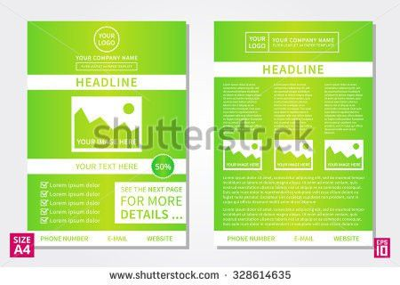 Greenery Brochure Layout Design Template Annual Stock Vector ...