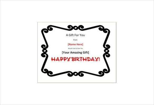 15+ Birthday Gift Certificate Templates – Free Sample, Example ...
