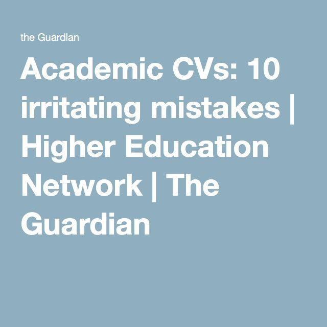 Best 25+ Academic cv ideas only on Pinterest