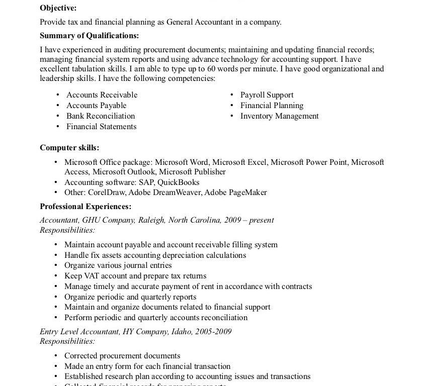 Resume Objectives General. download resume objectives samples. job ...