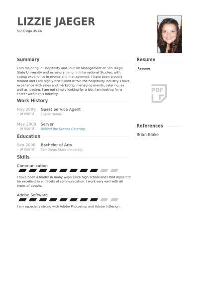 Top 8 Hotel Duty Manager Resume Samples Hospitality Cv Templates ...