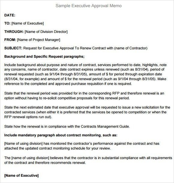 Attractive Sample Executive Memo   6+ Documents In PDF, Word