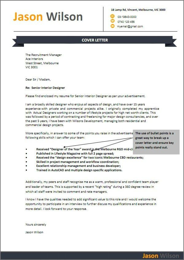 28+ Sample Job Cover Letter For Resume | Sample Resume Cover ...