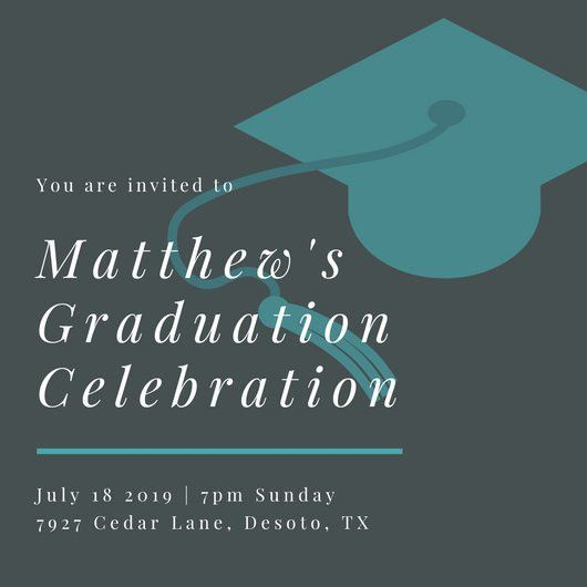Graduation Invitation Templates - Canva