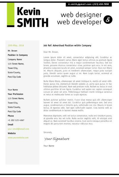 web designer cover letter sample