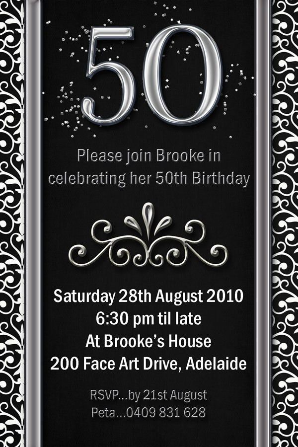 Impressive 50th Birthday Party Invitation Template | THERUNTIME.COM