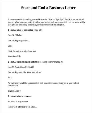 Standard Business Letters Format. 4+ Business Letter Standard Form ...