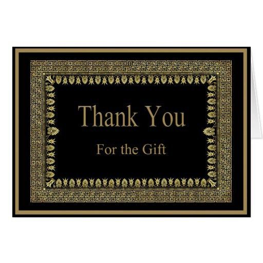 Wedding Thank You Cards: Stylish Thank You Card For Wedding Gift ...