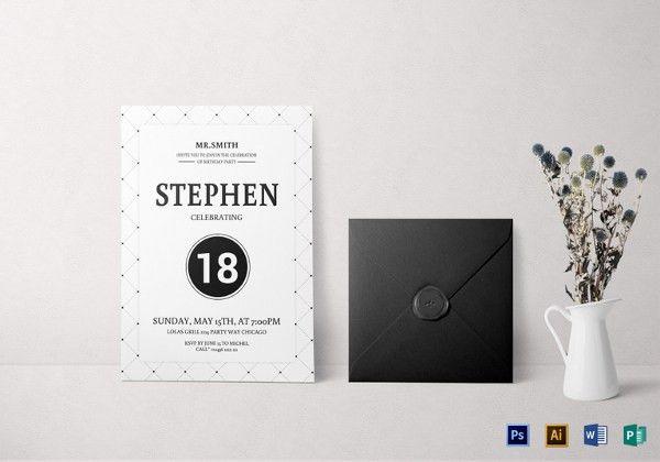 Birthday Invitation Template - 32+ Free Word, PDF, PSD, AI, Format ...