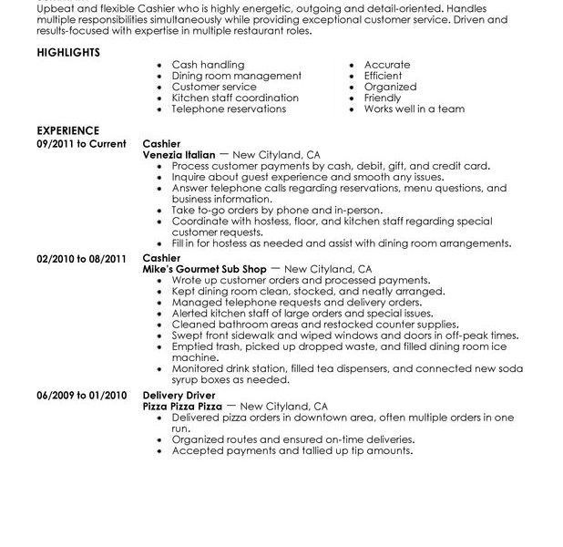 Startling Cashier Resume Sample 2 Unforgettable Cashier Resume ...