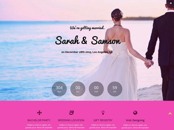 19 Free Wedding HTML Website Templates | TemplateMag