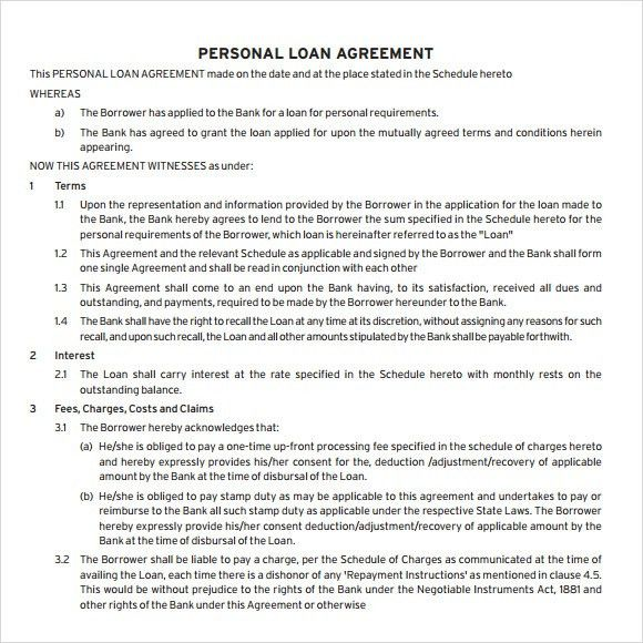 Sample Loan Agreement - 8+ Documents in PDF, Word