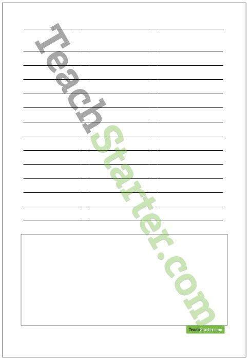 Blank Writing Template