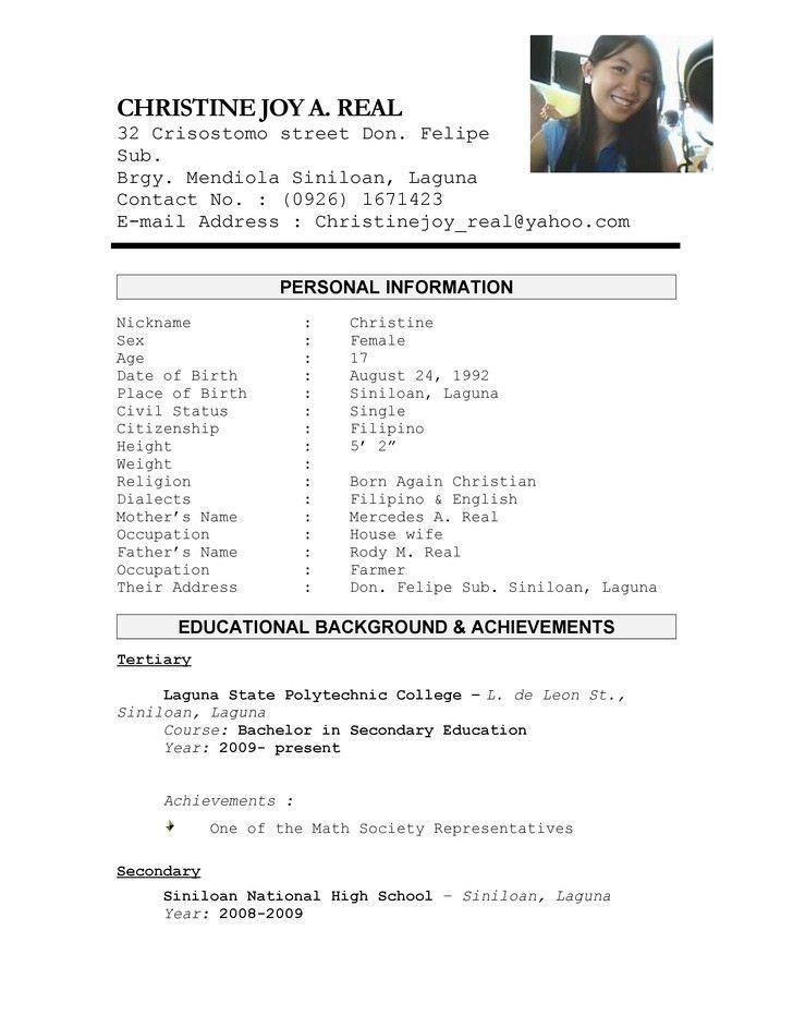 resume examples 10 best design example resume example college ...