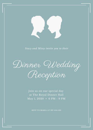 Teal Wedding Reception Invitation - Templates by Canva