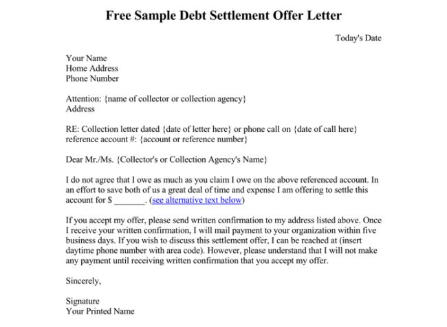 Debt Letter Template - 10+ Samples for Word, PDF
