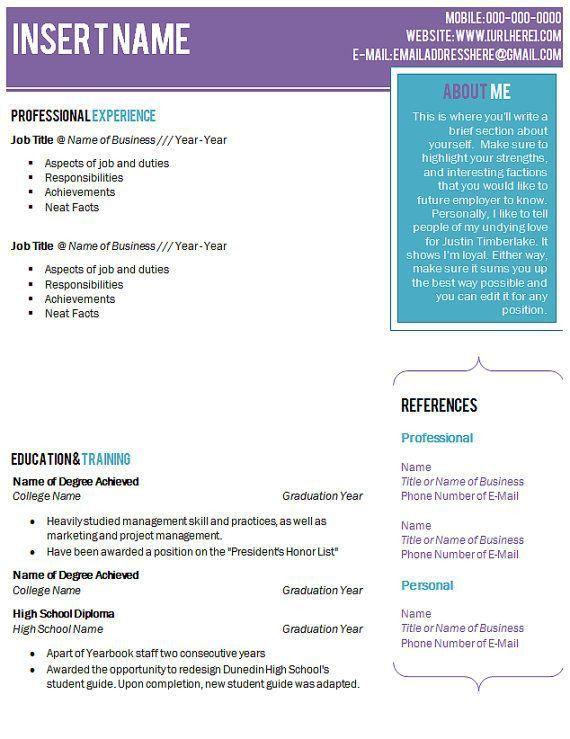 108 best Resume ideas images on Pinterest | Resume ideas, Resume ...