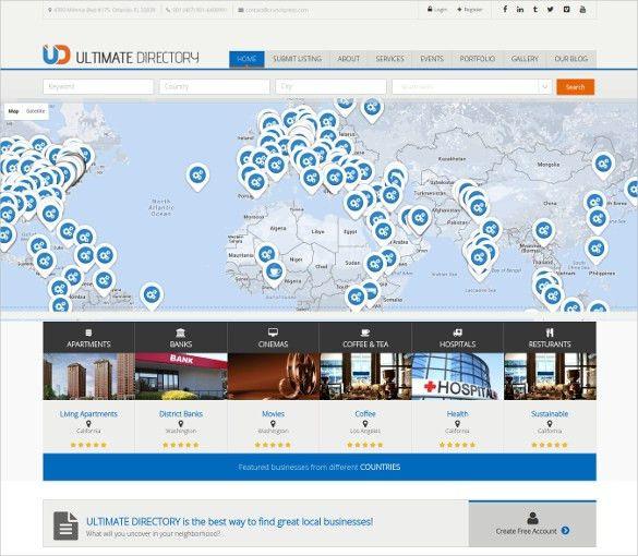 17+ Directory & Listing Blog Themes & Templates | Free & Premium ...