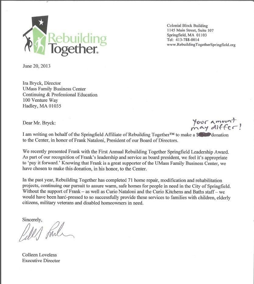 Donation Letters To Businesses | The Letter Sample