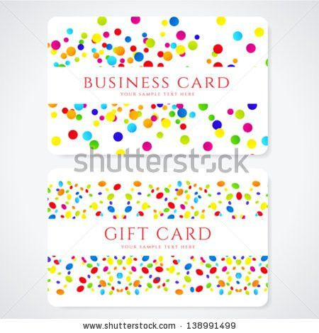 Voucher Gift Certificate Template Colorful Bright Stock Vector ...
