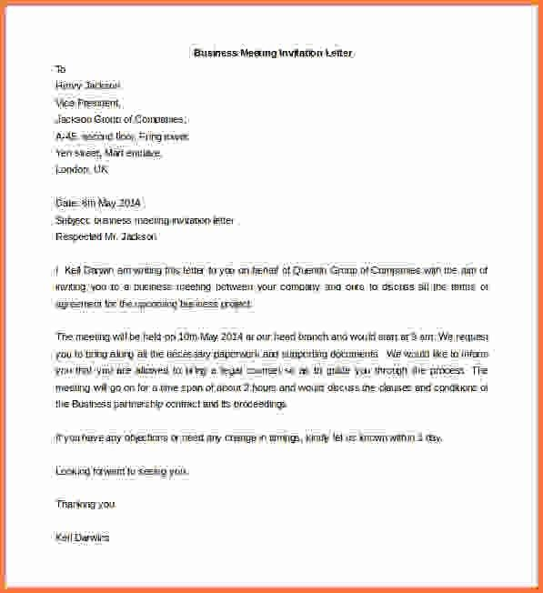 Business Letter Template Word.Business Meeting Invitation Letter ...