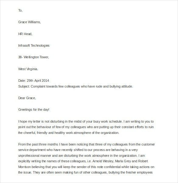 9+ Discrimination Complaint Letter Templates – Free Sample ...