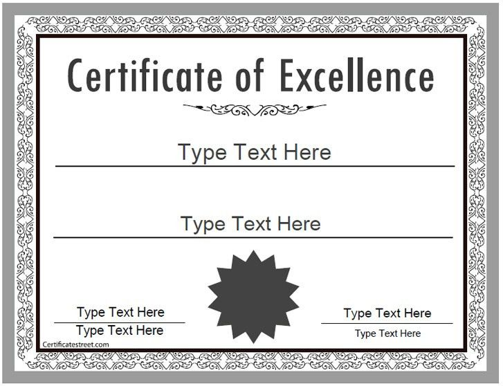 Business Certificate - Certificate of Excellence ...