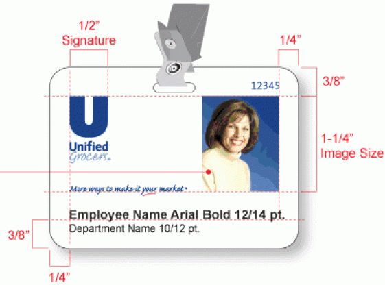 6+ Employee Photo ID Badge Templates – Word Templates