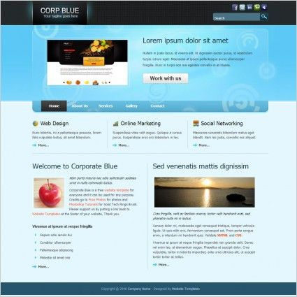 Free download html website templates free website templates for ...