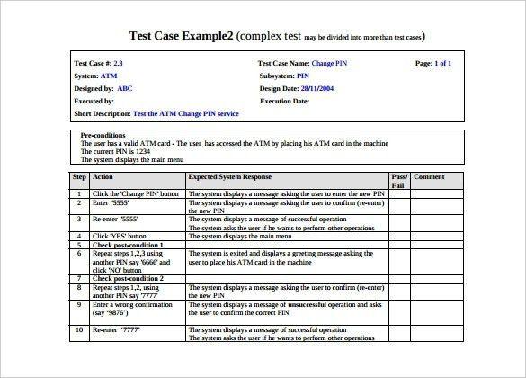 Test Case Template | ebook
