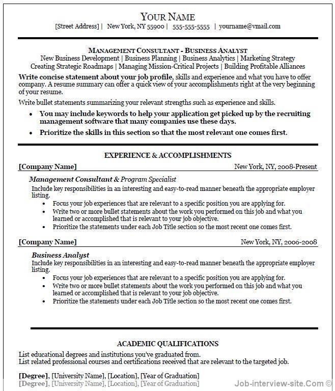 Resume Format In Word 2003. resume examples free resume templates ...