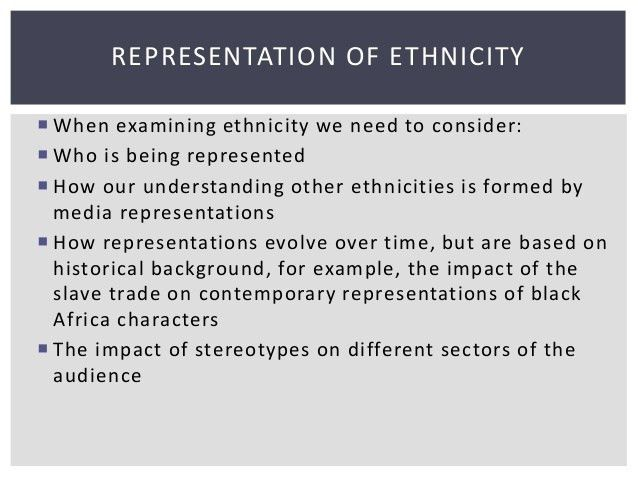 G322 exam lesson on representation of ethnicity