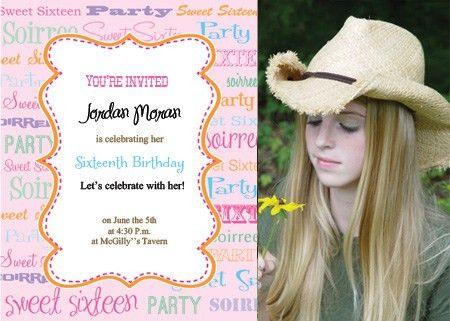 Printable Sweet Sixteen Invitations