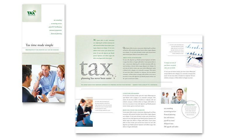 Accounting & Tax Services Tri Fold Brochure Template - Word ...