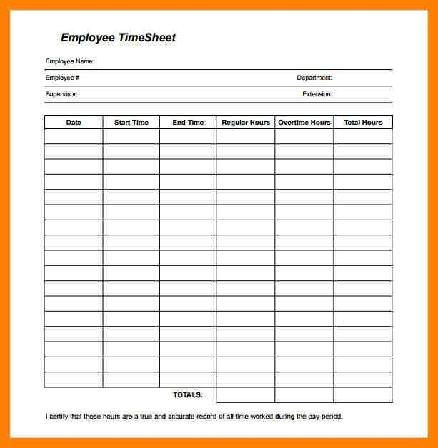 5+ free printable timesheets | packaging clerks