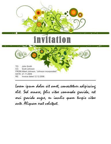 Download Free Templates for Party invitations in MS Word: dinner ...